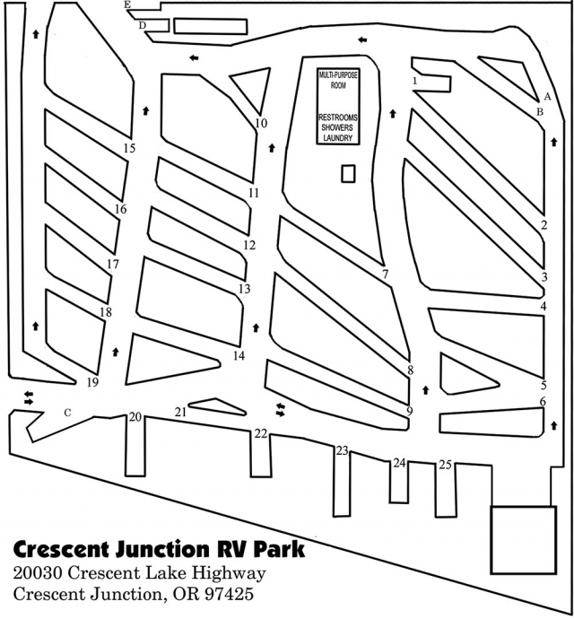 Crescent Junction RV Map